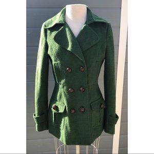 Cotton Candy green wool coat